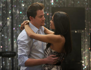 "Channing Tatum and Rosario Dawson in ""10 Years."""
