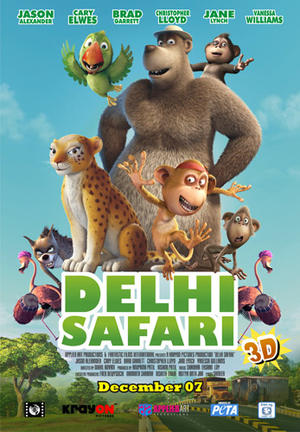 "Poster art for ""Delhi Safari."""