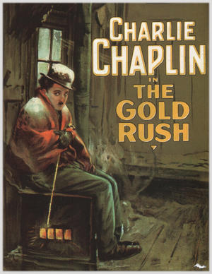 "Poster art for ""The Gold Rush."""