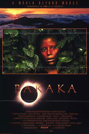 """Poster art for """"Baraka."""""""