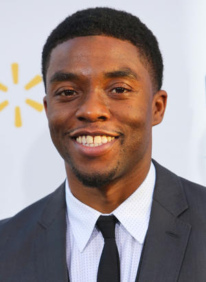 "Chadwick Boseman at the California premiere of ""42."""
