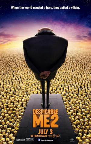 """Poster art for """"Despicable Me 2."""""""