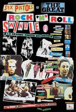 "Poster art for ""The Great Rock 'n' Roll Swindle."""