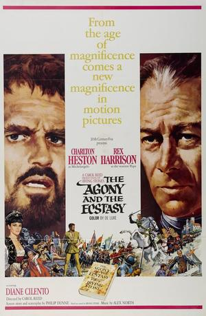 """Poster art for """"The Agony and the Ecstasy."""""""