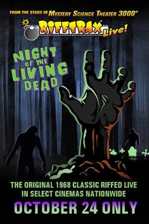 "Poster art for ""RiffTrax Live: Night of the Living Dead."""