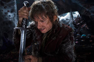 "Martin Freeman as Hobbit Bilbo Baggins in ""The Hobbit: The Desolation of Smaug."""