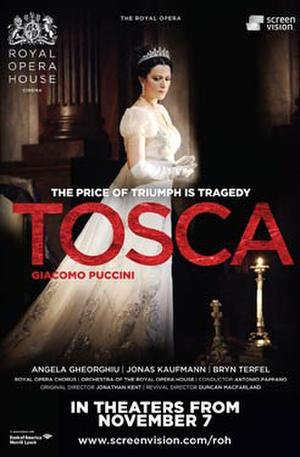 "Poster art for ""Tosca."""