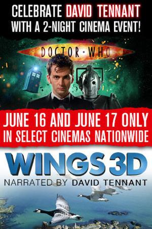 "Poster art for ""Doctor Who Cybermen + Wings 3D."""