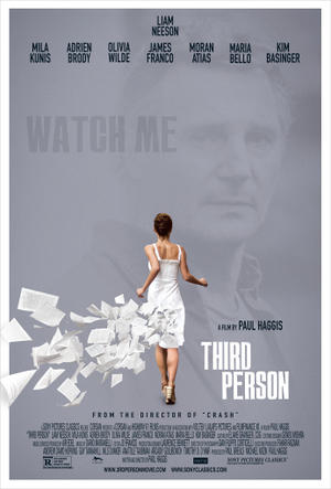 """Poster art for """"Third Person."""""""