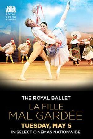 """Poster art for """"Royal Ballet: La Fille mal gardee."""""""