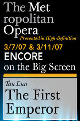 The First Emperor Encore (2007) showtimes and tickets