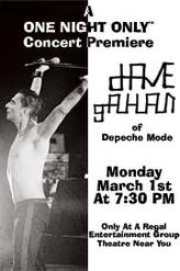 Dave Gahan Concert showtimes and tickets