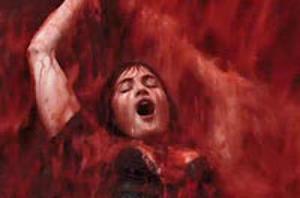 Gemma Arterton Bathes in a Waterfall of Blood in 'Byzantium' Trailer