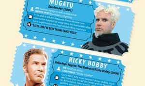 Infographic: Top 10 Quirkiest Will Ferrell Characters