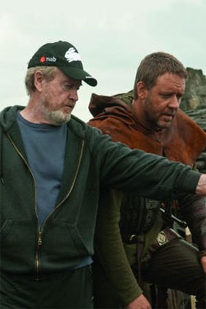 Ridley Scott and Russell Crowe