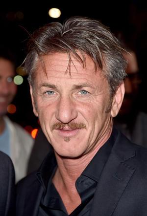 """Sean Penn at the California premiere of """"The Gunman."""""""