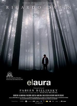 "Poster art for ""The Aura."""