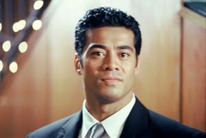 "Michael (Robbie Magasiva) at a wedding in ""Samoan Wedding."""