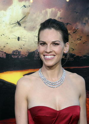 """""""The Reaping"""" star Hilary Swank at the L.A. premiere."""