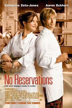 """Poster art for """"No Reservations."""""""