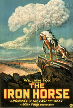 "Poster art for ""The Iron Horse."""