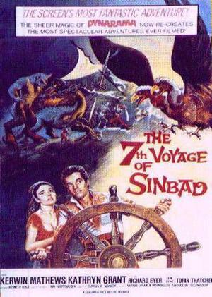 "Poster art for ""The 7th Voyage of Sinbad."""