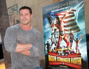 """Christian Boeving at the California premiere of """"Bigger, Stronger, Faster."""""""