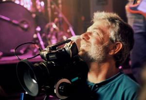 "Director Louie Schwartzberg on the set of ""Naked Beauty: A Love Story that Feeds the Earth."""