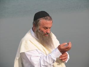 """Assi Dayan as Rabbi Edelman in """"My Father My Lord."""""""