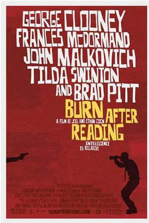 "Poster art for ""Burn After Reading."""