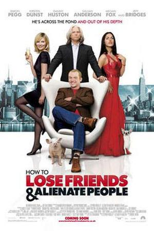 "Poster art for ""How to Lose Friends & Alienate People."""