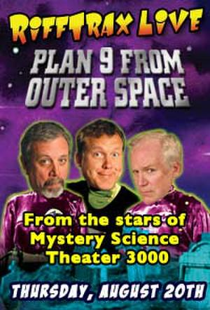 """""""Poster art for RiffTrax LIVE: Plan 9 from Outer Space"""""""