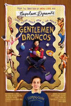 """Poster art for """"Gentlemen Broncos."""""""