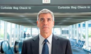 """George Clooney as Ryan Bingham in """"Up in the Air."""""""