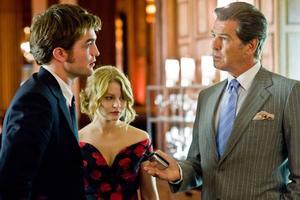 "Robert Pattinson, Leven Rambin and Pierce Brosnan in ""Remember Me."""