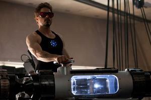 "Robert Downey Jr. as Tony Stark in ""Iron Man 2."""