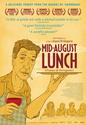 "Poster art for ""Mid-August Lunch."""