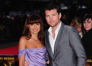 "Natalie Mark and Sam Worthington at the London premiere of ""Clash of the Titans."""