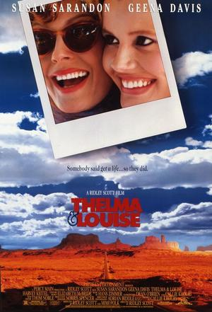 "Poster art for ""Thelma & Louise."""