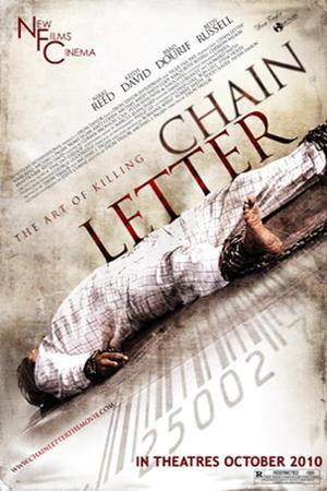 """Poster art for """"Chain Letter."""""""