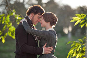 "Michael Fassbender and Mia Wasikowska in ""Jane Eyre"""