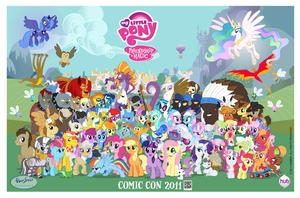 "Comic-Con poster art for ""My Little Pony: Friendship Is Magic."""