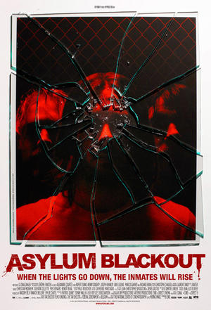 "Poster art for ""Asylum Blackout."""