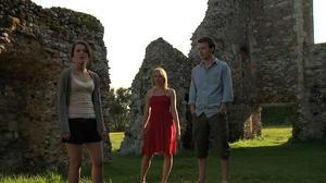 "Emily Plumtree, Jessica Ellerby and Matt Stokoe in ""Hollow."""