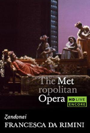 "Poster art for ""The Metropolitan Opera: Francesca da Rimini Encore."""