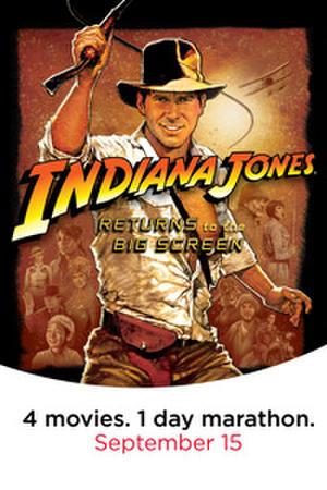 "Poster art for ""Indiana Jones Marathon."""