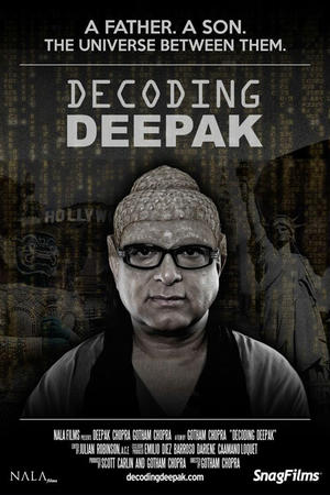 "Poster art for ""Decoding Deepak."""