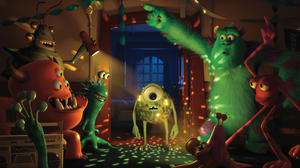 "Mike and Sulley in ""Monsters University."""
