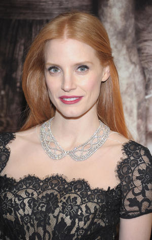 "Jessica Chastain at the New York premiere of ""Mama."""
