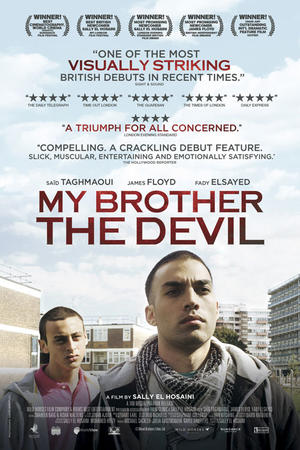 "Poster art for ""My Brother the Devil."""